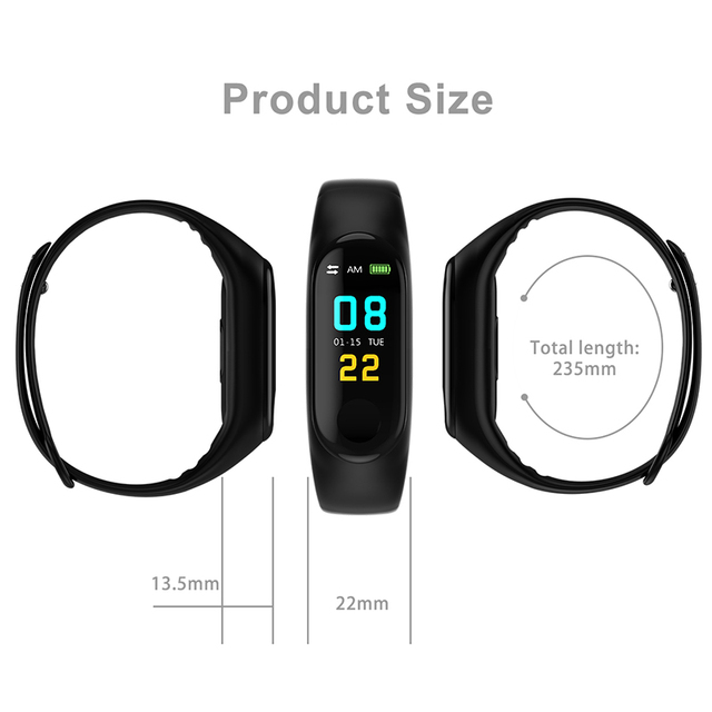 Bluetooth M3 sports Smart watch Kids men women Heart Rate Blood Pressure Alarm Clock Step Fitness Tracker For Android IOS