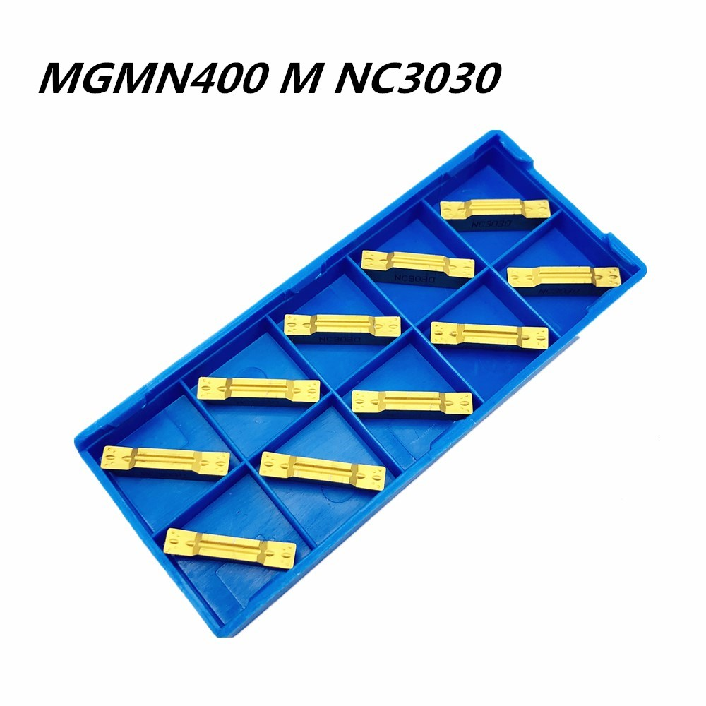 10Pcs Slotting MGMN400 M NC3030 Carbide Insert Metal Turning Tool Slotting Tool MGMN400 Lathe Tools CNC Parts And Slotting Tool