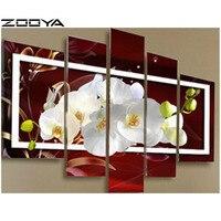 ZOOYA 3D Diamond Embroidery DIY Multi Diamond Painting Rhinestones Embroidery Diamond Cross Stitch Mosaic Pictures Flower