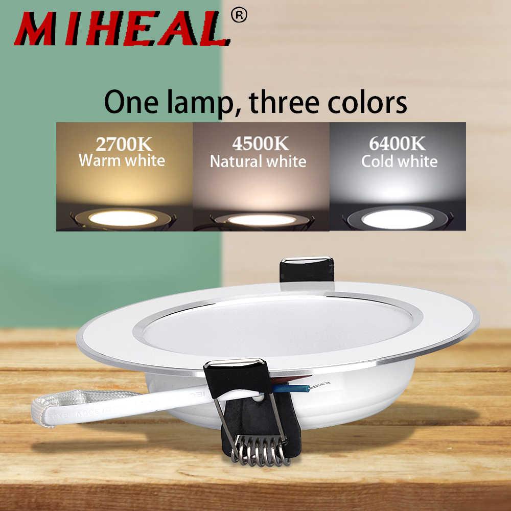 220 V-240 V Светодиодный светильник 5 W 9 W 12 W 15 W светодиодный потолочный круглый утопленный лампы затемнения Водонепроницаемый светодиодный пятно света для Ванная комната Кухня