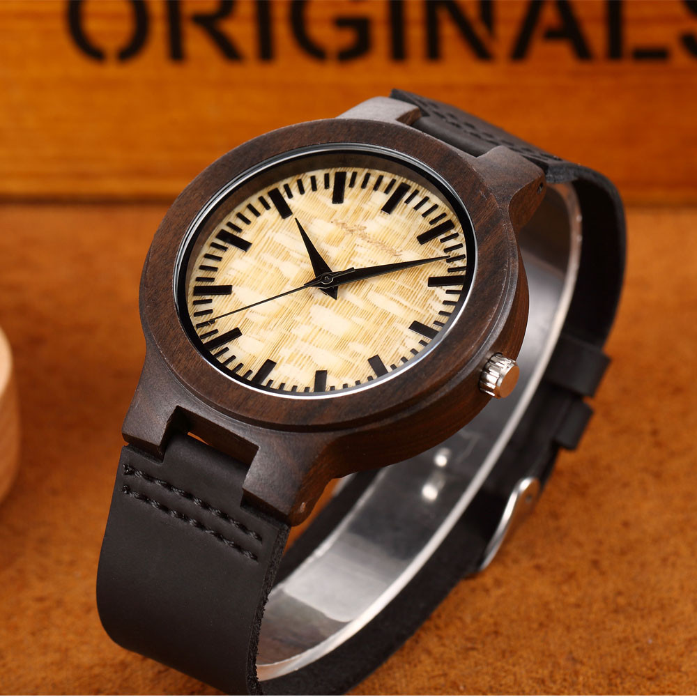 Unique round dial design Couple Fashion Men's Women's Quartz Movement Wood Watch Band Quartz Lovers Watch Lover's Watches LD
