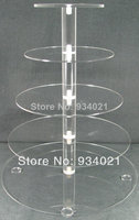 Hot Selling Free Shopping 5 Tier Round Acrylic Wedding Cake Stands Party Cup Cake Holders Wedding