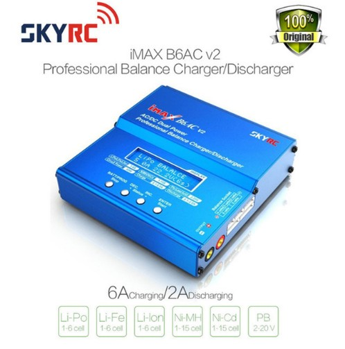 Original SKYRC iMAX B6AC V2 6A Lipo Battery Balance Charger LCD Display Discharger RC Model battery charger Re-peak Mode imax original skyrc imax b6ac v2 6a lipo battery balance charger lcd display discharger rc model battery charger re peak mode imax