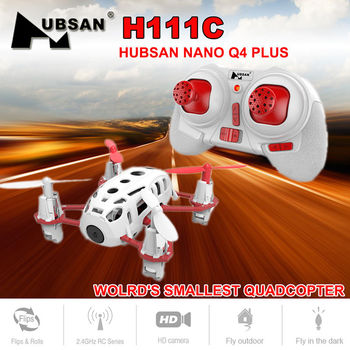 Hubsan H111C Nano Q4 CAM Mini Quadcopter Drone with 480P HD Camera 3D Flips 2.4GHz RC Helicopter RTF Toys