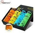 4 peças de um conjunto com caixa de homem underwear padrão floral xadrez carta impressão respirável boxers troncos homens de alta qualidade da moda