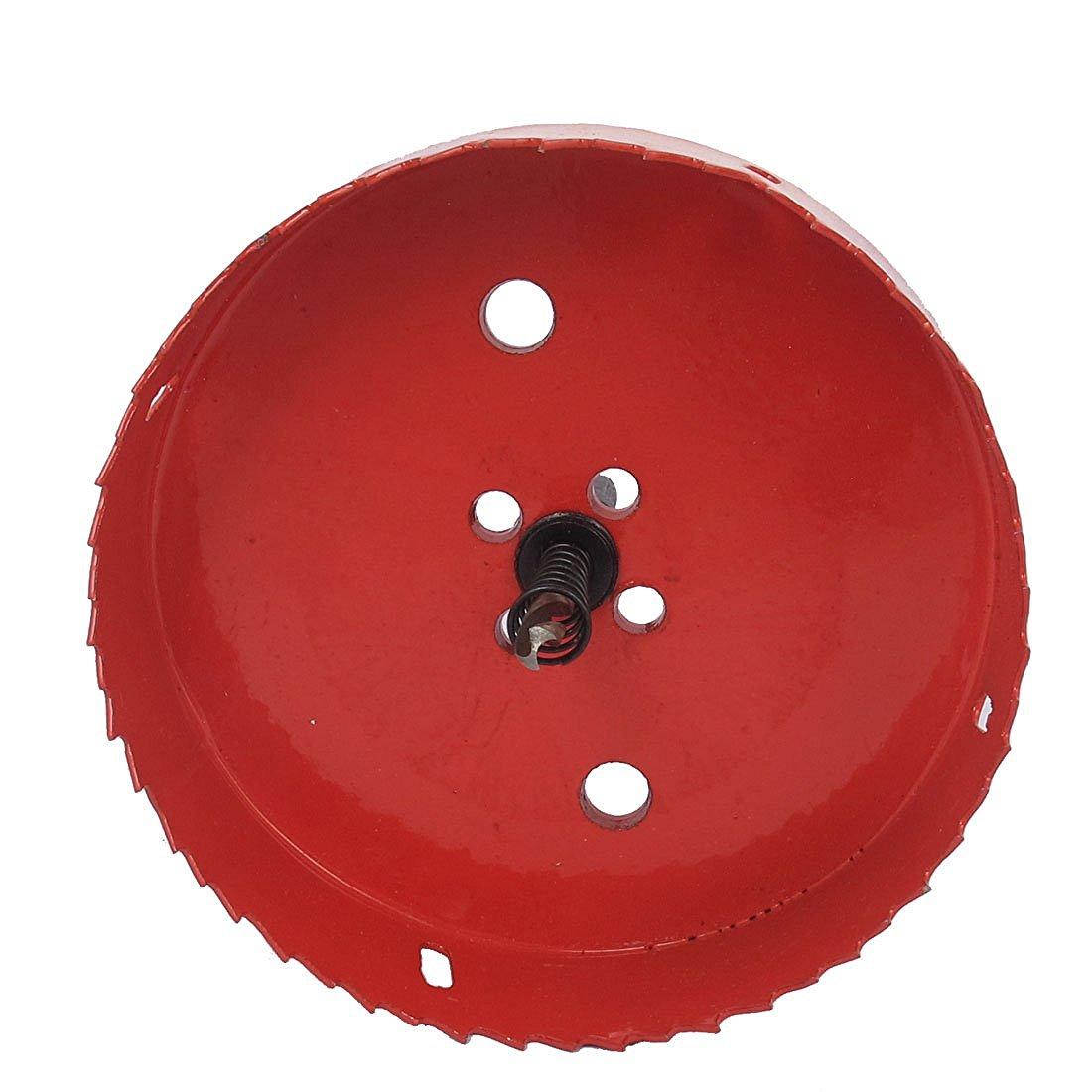 HHTL-6mm Drill Bit 130mm Cutting Diameter Hole Saw Red for Drilling Wood 6mm drill bit 145mm cutting diameter