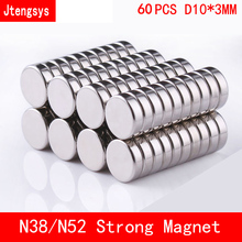 60pcs Neodymium magnet 10x3 Rare Earth small Strong Round permanent 10*3mm fridge Electromagnet NdFeB nickle magnetic DISC цена