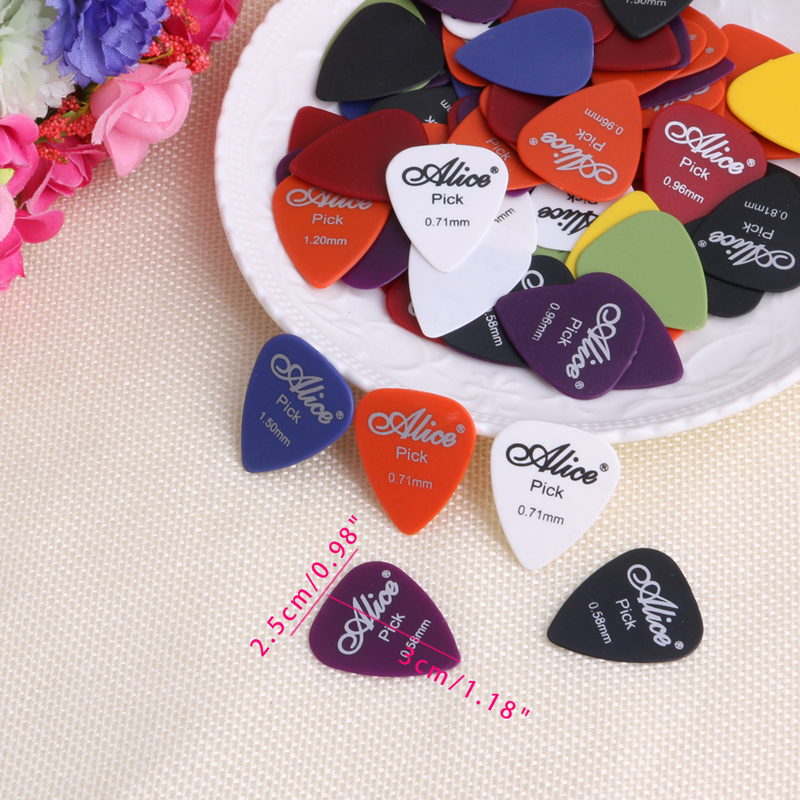 100Pcs/Set Electric Guitar Acoustic Music Pick Plectrum Assorted Thickness
