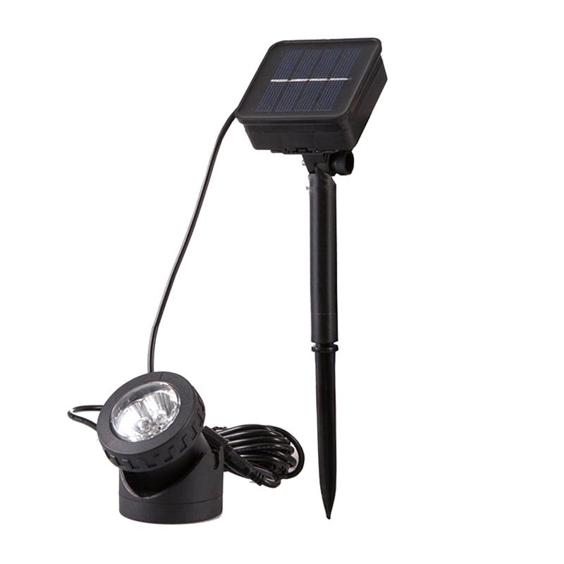 1 Pcs Solar Powered Led Scheinwerfer Licht Lampe Wasserdicht Für Garten Pool Fischteich Im Freien 2019 Beste Verkauf