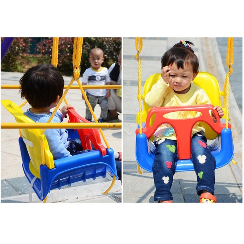 Nouveau 3 en 1 multifonctionnel enfants balançoire maternelle aire de jeux famille grand espace couleur bébé enfants balançoire jouets de plein air cadeaux