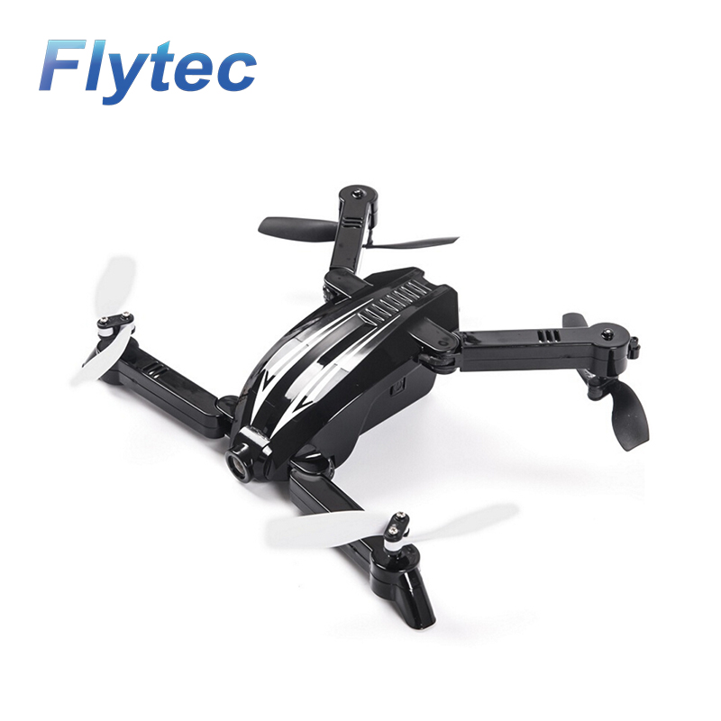 Flytec T13S Mini Pocket Foldable RC Drone 3D 2.4G 4CH with Wifi FPV 720P Wide Angle Camera Height Hold RC Quadcopter RTF Kid Toy flytec t18d rc quadcopter mini drone 4ch wifi fpv 720p hd camera rc drones height hold mode 6 axis ufo rtf drone with camera