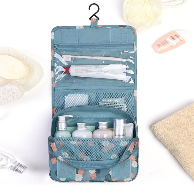 9747eb6c2a67 High Quality Travel Set Waterproof Portable Toiletry Bag Women Cosmetic  Organizer Pouch Hanging Wash Bags Makeup Storage Bag