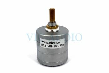 1PC Volume Potentiometer For EIZZ 10K 25K 50K 100K 250K 24 Steps DIY Hifi Stereo Audio Attenuator Gold Plated Copper Pins