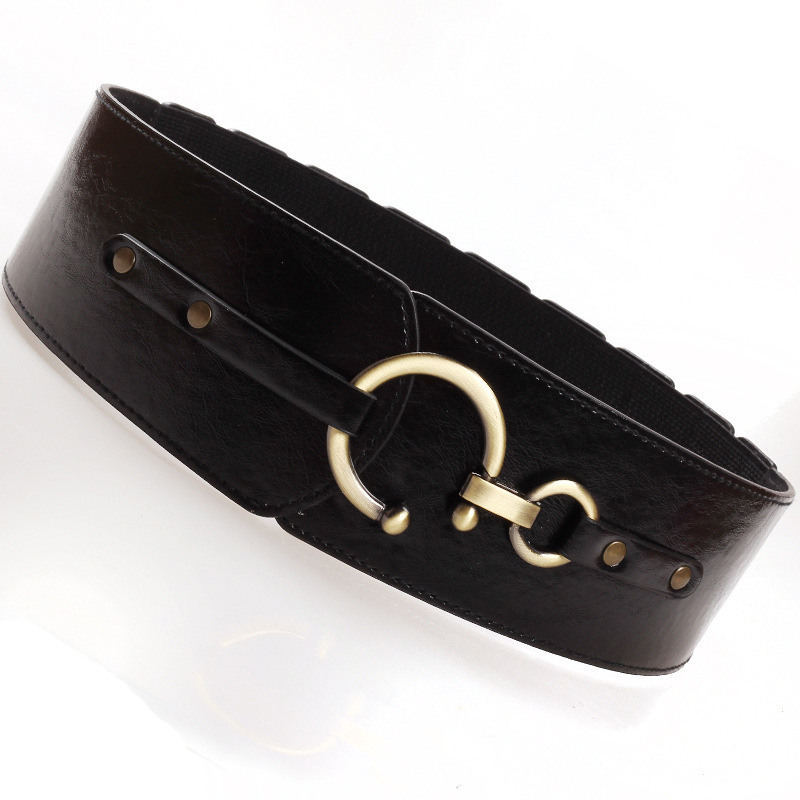 New Style Anti Scratch Women Decoration Wide Belt Korean Elastic Cummerbunds  Autumn And Winter Dress Decoration Accessories