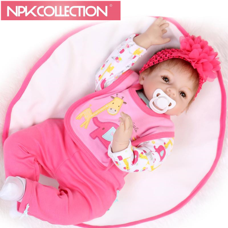 New 22 Lovely doll reborn babies for sale silicone reborn baby dolls munecas reborn girls toys birthday gift N10 free shipping hot sale real silicon baby dolls 55cm 22inch npk brand lifelike lovely reborn dolls babies toys for children gift