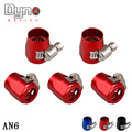 DYNO - NEW Fuel Oil AN6 5/6'' Fittings HEX Finishers Clamps 16.0mm Water Tube Hose