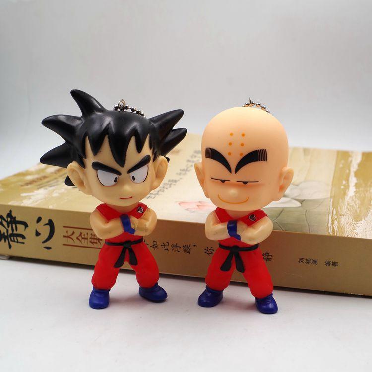 Son Goku Kuririn Car Pendant Son Goku Keychain 9-10cm Action Figure PVC Collection Figures Toys Keychain Doll