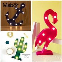 Mabor светильники ночные светильники кактус Лодка Якорь светильник Фламинго до ребенок ночник лампа домашний декор