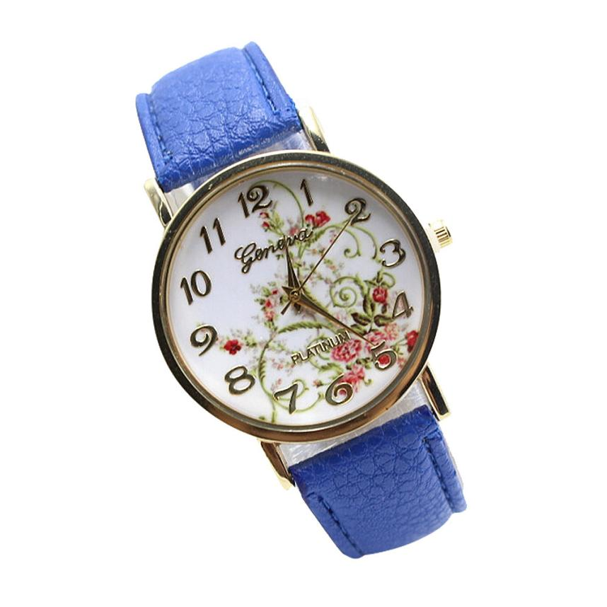 Reloj 2017 New  Bestselling Leather Band Analog Quartz Vogue Wrist Watches Dropshipping  17feb8 lucky 2015 vogue reloj lucky12
