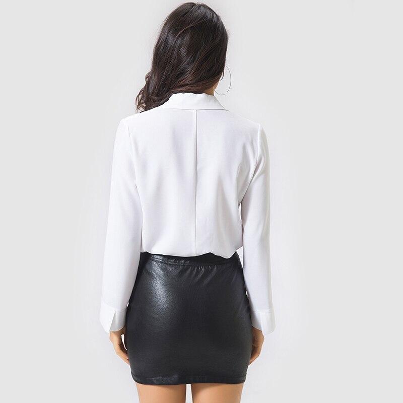 e8bd4694ce1a Women Sexy White Shirt Bodysuit Autumn Female Deep V-Neck Long-Sleeve  Blouse Romper Office Ladies Casual Elegant Bodysuit Sviuse