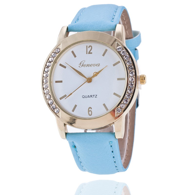 2018 new Fashion round dial Women Quartz Watch Casual crystal Leather strap Ladies Dress Wristwatch Relojes Mujer Woman clock bling colorful sanda luxury leather quartz watch women clock female ladies dress wristwatch gift gold 2018 relojes mujer saat