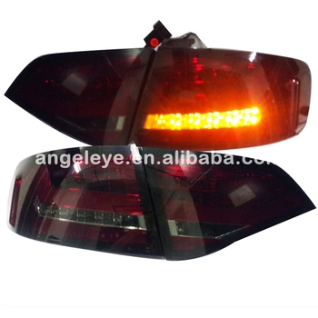 For Audi A4B8 LED Tail Light Rear lamp 2008-2012 year Dark red  color SN