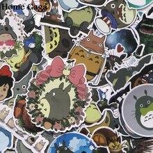 Homegaga 50pcs Tonari no Totoro Pvc Waterproof Cartoon For scrapbooking album Luggage Skateboard Phone Wall Guitar Sticker D1386 homegaga 53pcs care bears diy pvc waterproof cartoon for scrapbooking album luggage skateboard phone wall guitar stickers d1384