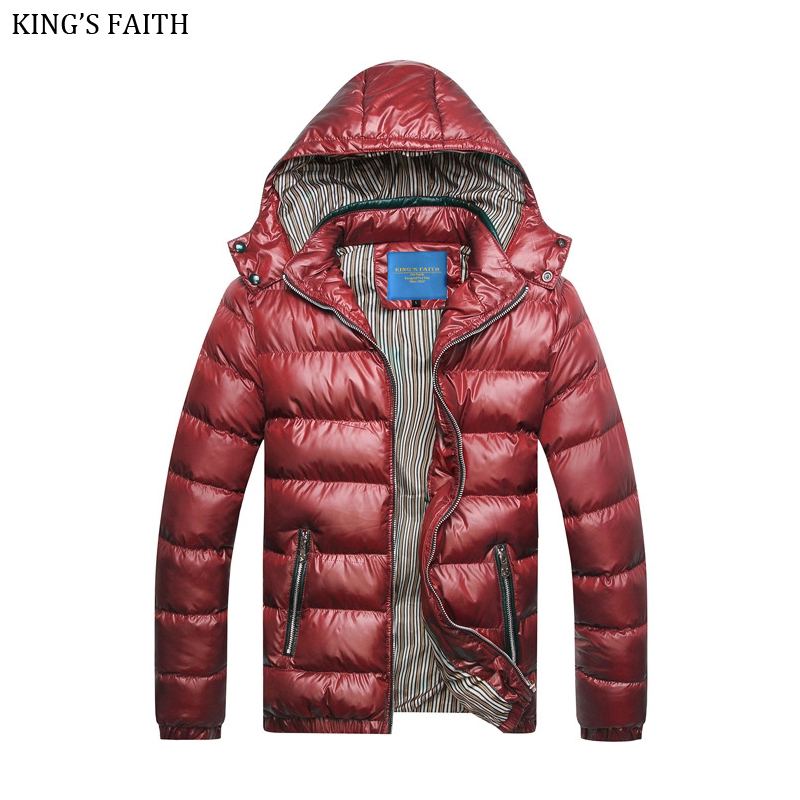 KING'S FAITH Winter Fashion Jacket Men's Parkas Thick Hooded Coats Men Warm Casual Parka Male Outerwear Brand Clothing M220 2017 male parkas outwear coats fashion parkas casul winter jacket men warm brand clothing casaco masculino padded thick coat