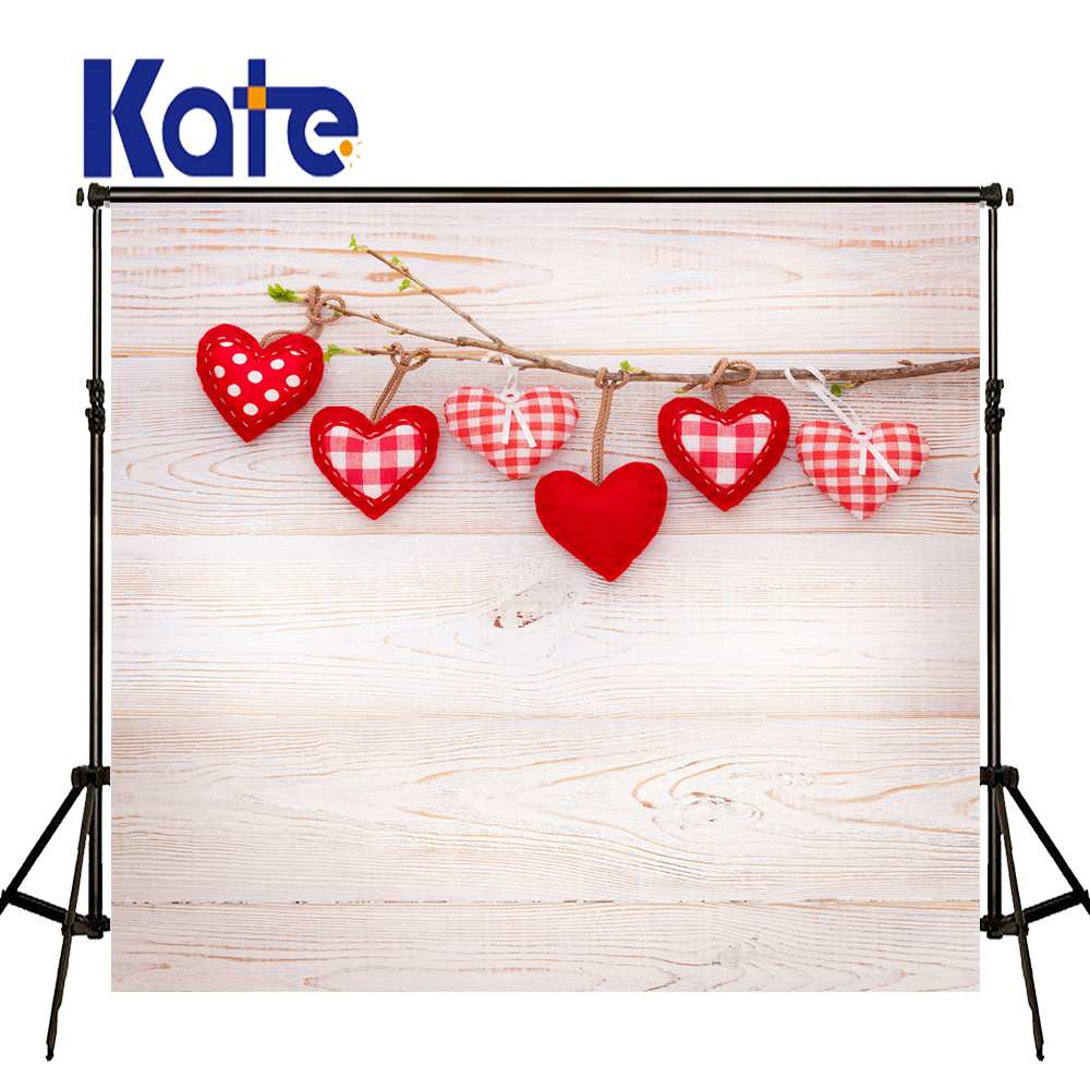 KATE 5x7ft Valentine'S Day Background Photography Backdrops White Wooden Wall Backdrop Kids Photo Backgrounds for Photo Studio