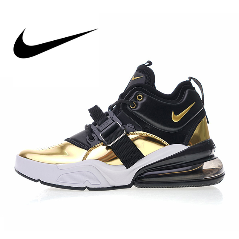 Original authentique Nike Air Force 270 QS or Standard hommes chaussures de course Sport respirant baskets 2019 nouveauté AT5752-700