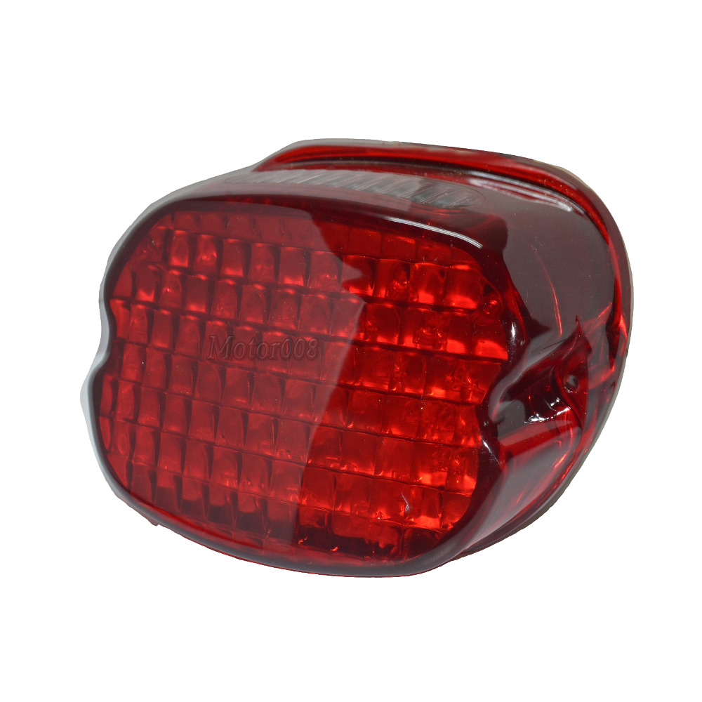 Red Tail Light For Harley Davidson Motorcycle Laydown Led