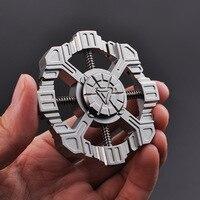Star Trek High Quality EDC Stress Wheel Toy Titanium Hand Spinner Metal Rainbow Fidget Spinner A180