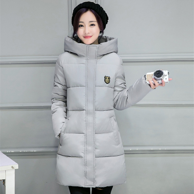 2017 Winter Women's Fashion Down Warm Coats Plus size New Arrival Fashion Long sleeve Hooded Jackets Slim Casual Parka Coat