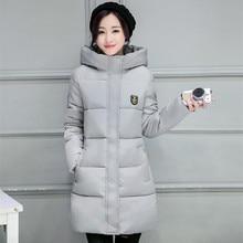 Зимние женщин Мода Вниз Теплое Пальто Плюс size2016 Новое Прибытие Мода Длинным рукавом С Капюшоном Куртки Тонкий Стиль Casual Куртка пальто