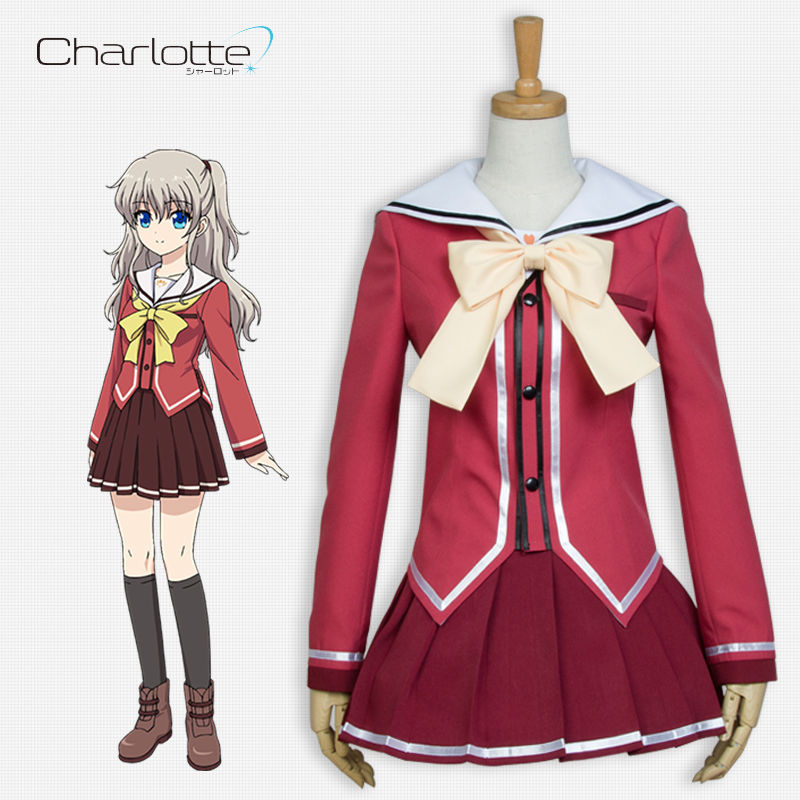 10-15days Make Dependable Performance Hot Game Anime Charlotte Nao Tomori Cosplay Costume Halloween School Uniform Dress Skirt