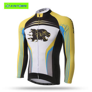 11c61a5d6 XINTOWN Long-sleeved Blue Riding Jersey Dress 2016 Bike Bicycle Cycling  Clothes