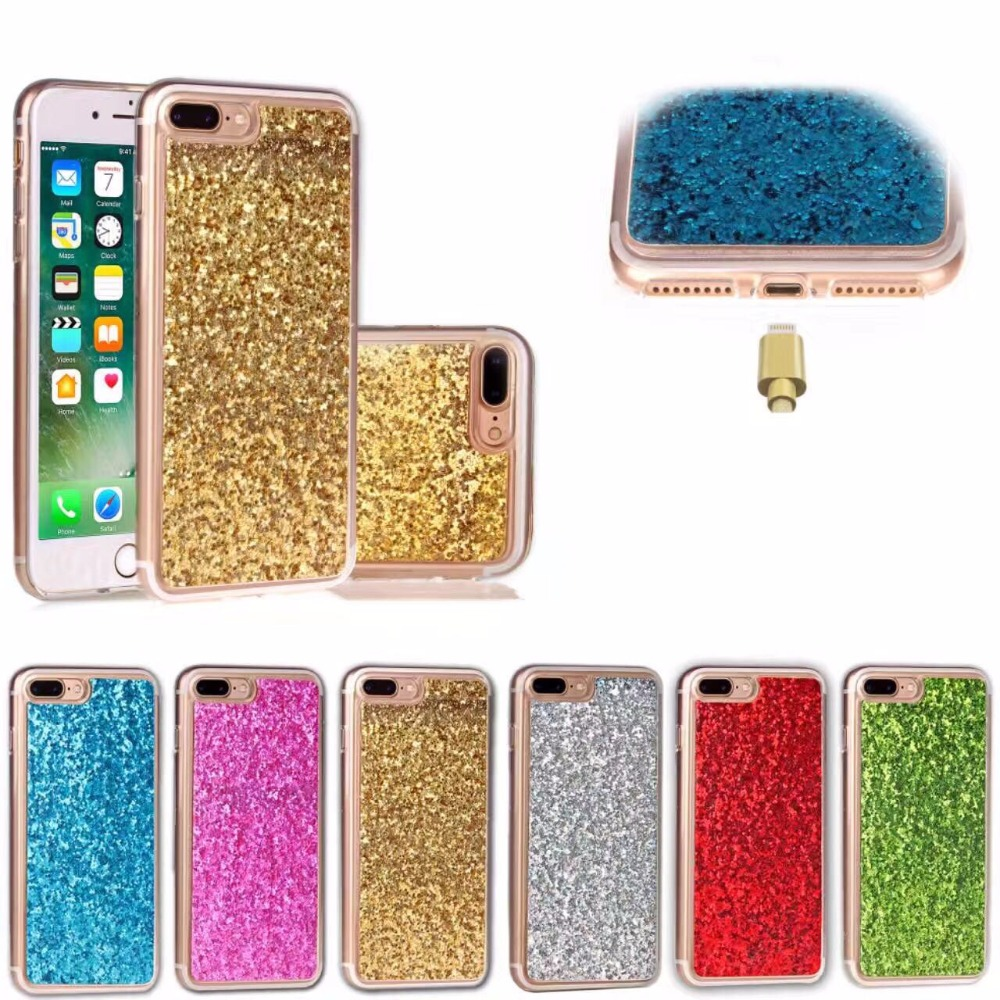 DOYAEL Bling Glitter Silicon Candy Color funda para iPhone 7 7 plus funda de silicona pintada para iPhone X 8 8 Plus funda trasera