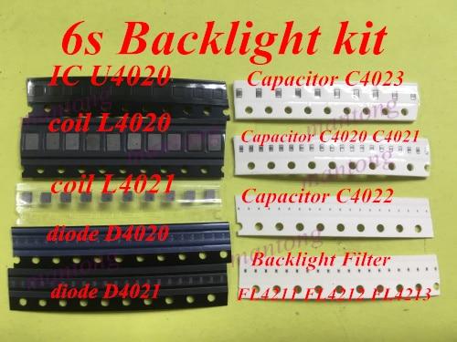 1set(13pcs)for Iphone 6s Backlight Ic U4020 + Coil L4020 L4021 +Diode D4020 D4021+Capacitor C4023 C4021 C4022 +Filter FL4211 -13