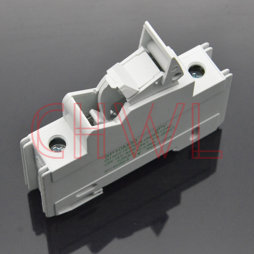 Image 3 - 5pieces/lot solar panel mount fuse holder 35mm din rail pv fuse 10x38mm DC 1000V Photovoltaic fuse base dropout fuse component-in Fuses from Home Improvement