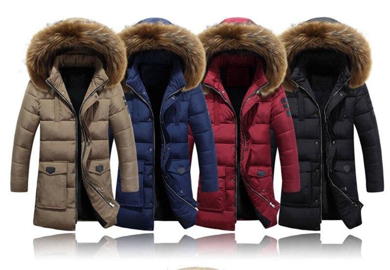 Großhandel Neuartige Ideen 25 Grad Temperatur Parka Männer Baumwolle Gepolsterte Lange Dicke Warme Beiläufige Winterjacke Männer Mit Waschbär Hund