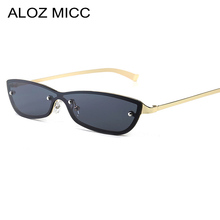 ALOZ MICC Rimless Cat Eye Sunglasses Women Men 2019 Fashion Candy Color High Quality Sun glasses Female shade Oculos De Sol Q337
