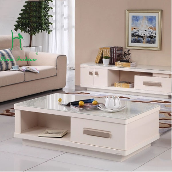 Modern tea glass marble table large sized apartment living room furniture in coffee tables from - Apartment size living room furniture ...