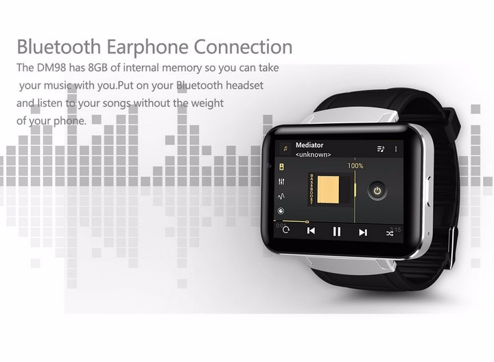 2.2-Display- 320240-LED-DM98-Smart-Watch-Android 5.1- MTK6572A-Dual-core -1.2G -900Mah -Camera-WIFI-3G-QQ-GPS-App-For-Smartphone (8)