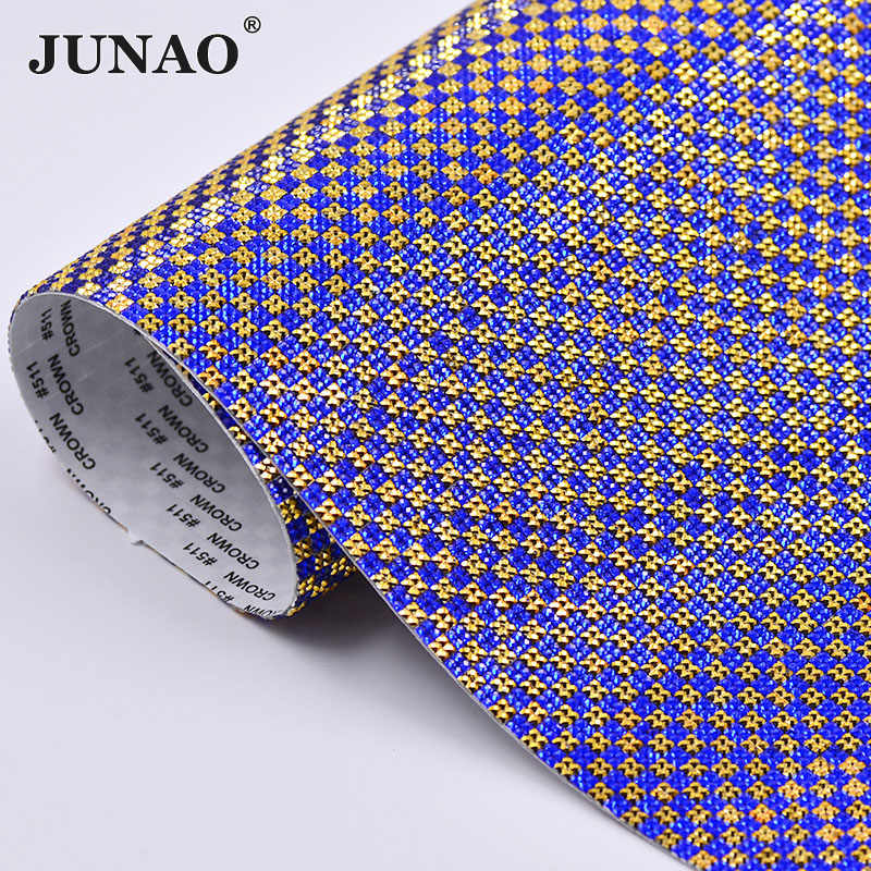 6f87d9bc409668 ... JUNAO 24x40cm Silver Pink Crystal Mesh Rhinestones Sheet Trim Self  Adhesive Resin Crystal Fabric for Jewelry ...