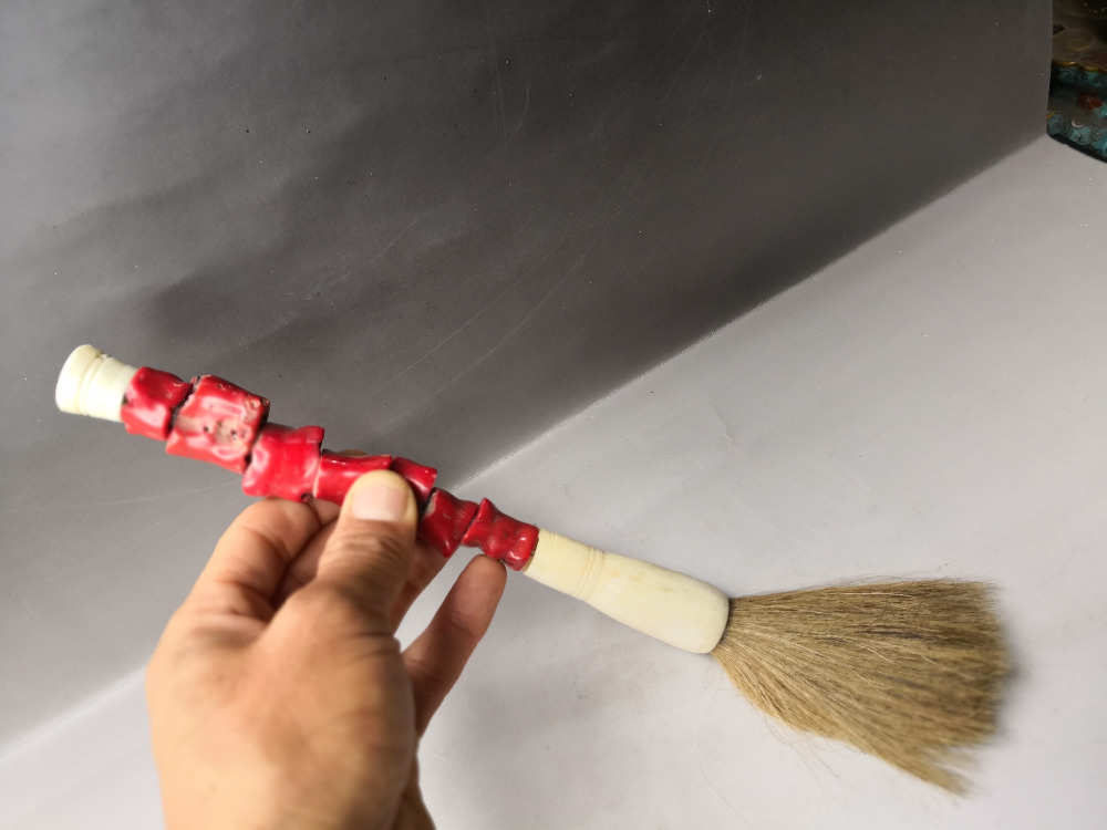 Calligraphy and painting Tools articles collection of red Coral big Chinese brush #6602