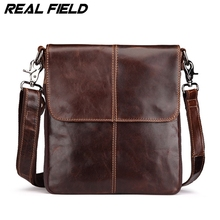 Real Field Famous Brands Coffee Burnished Genuine Leather Briefcase Crossbody Bag Designer Shoulder Bags Messenger Bag 114