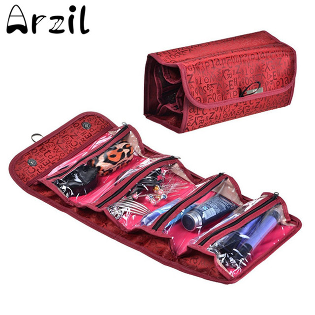 Nylon Foldable Travel Toiletry Storage Bags Roll Up Hanging