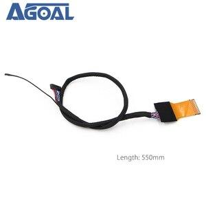 Image 3 - FFC LVDS כבל 2 ch 8 סיביות 51 סיכות 51pin כפולה 8 כבל גמיש שטוח כבל עבור LED פנל v400HJ6 PE1 550mm אוניברסלי LCD Controlle