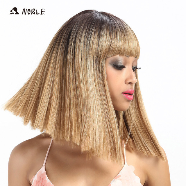 Noble Synthetic Wig For Black Women/613 White Women Short Wig Straight 14 Inch Blonde Wig Cosplay Hair Synthetic Lace Front Wig 3