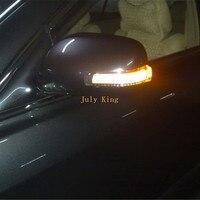 July King светодио дный зеркальный чехол для Toyota Camry Corolla Axio Auris Vios; Белый DRL + боковые поворотники + наземная лампа
